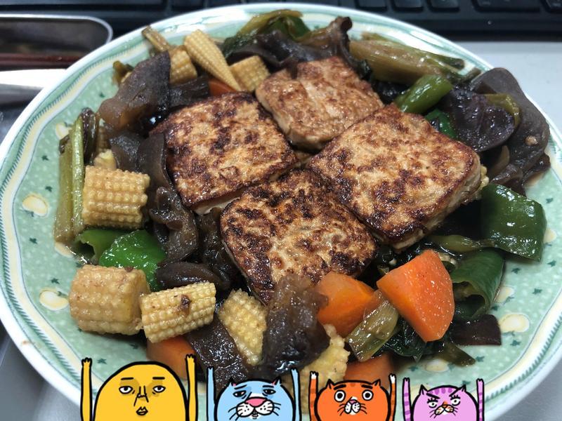 蔥燒木耳豆腐