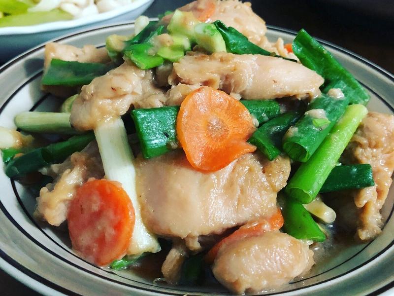 蔥炒豆乳雞