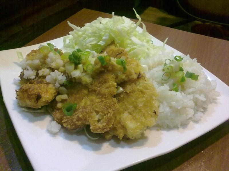 日式雞排飯 with 蘿蔔泥+高麗菜絲