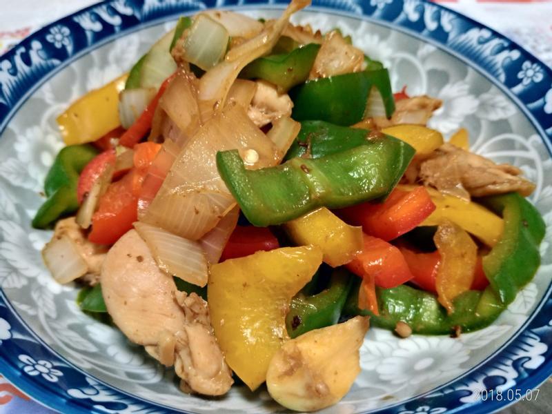 甜椒青椒炒肉絲
