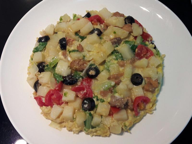 西班牙烘蛋~馬鈴薯蔬菜雞肉的早午餐點心