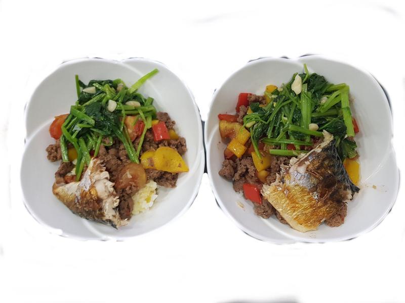 鯖魚便當 低卡 減肥食譜