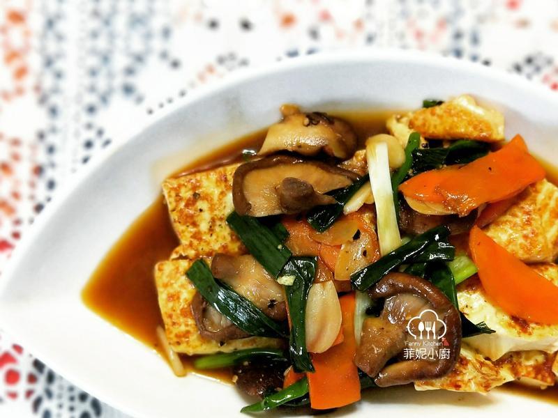 黑胡椒葱燒豆腐