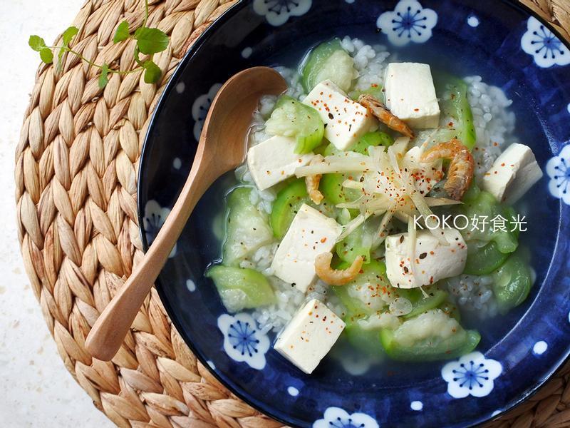 蝦米瓠瓜豆腐泡飯
