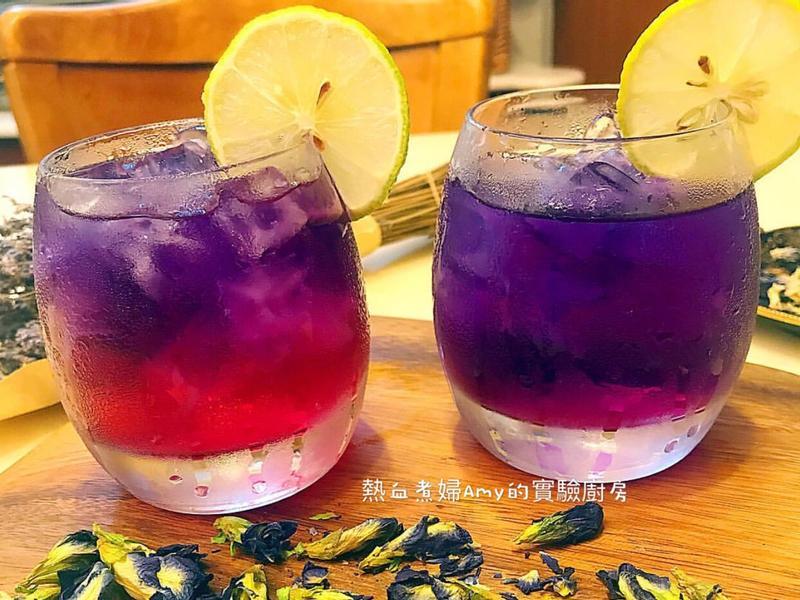 👩🍳漸層蝶豆花洛神蜂蜜茶🍷
