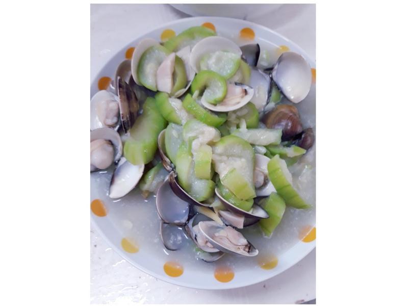 絲瓜蛤蜊杏鮑菇
