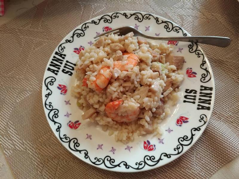 白酒野菇海鮮燉飯