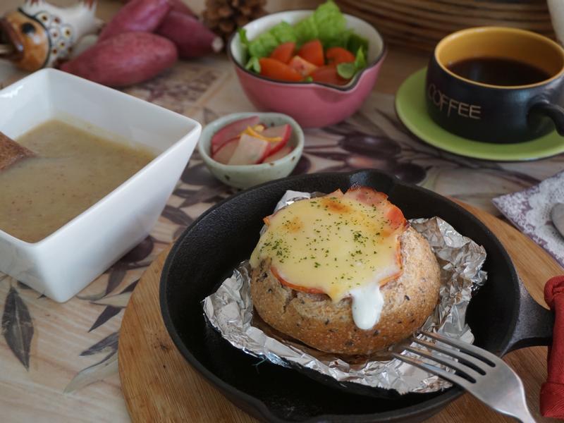 焗烤培根蛋麵包盒 by蜜塔木拉早午餐烘焙