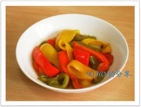簡單無油煙料理-涼拌油醋烤甜椒