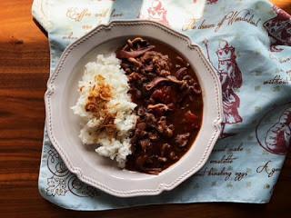 [廚房筆記]ハヤシライス(牛肉蕃茄燴飯)
