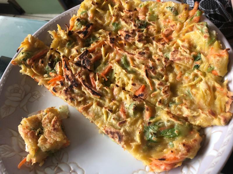 地瓜蔬菜煎餅