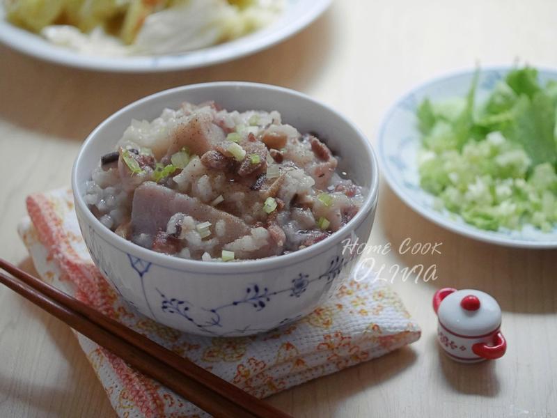台式芋頭鹹粥❤電鍋小廚娘