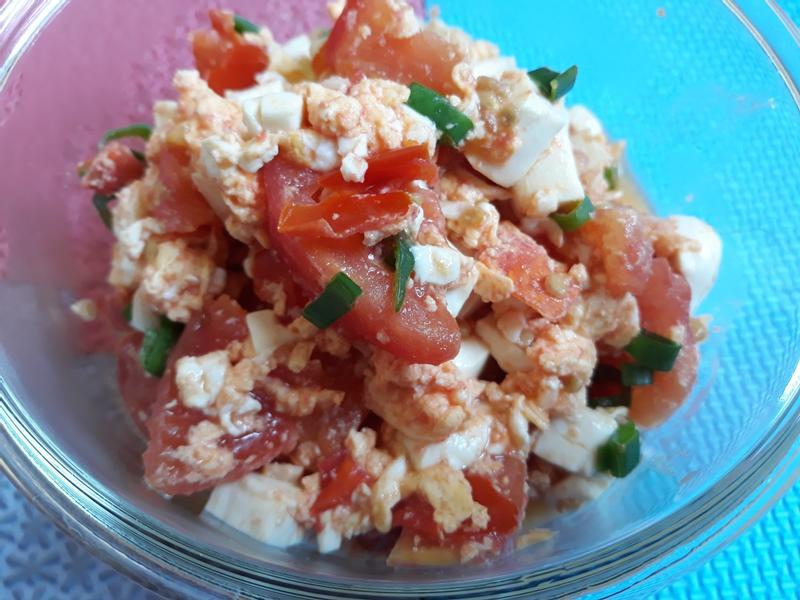 炒蕃茄豆腐蛋