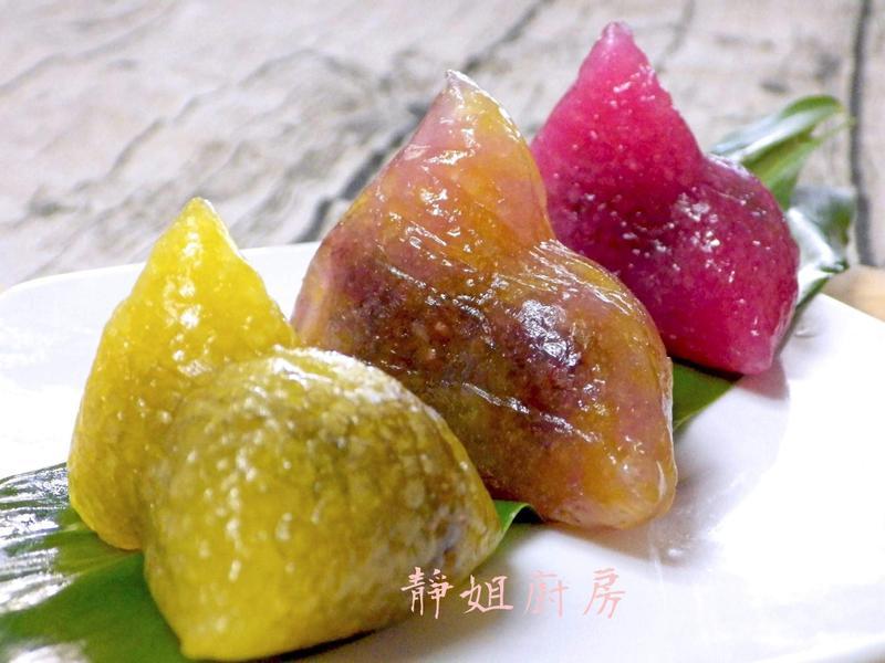 彩色水晶粽