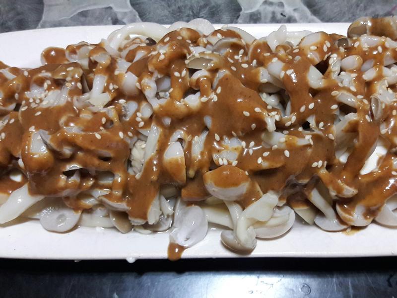 日式涼拌胡麻豆腐菇