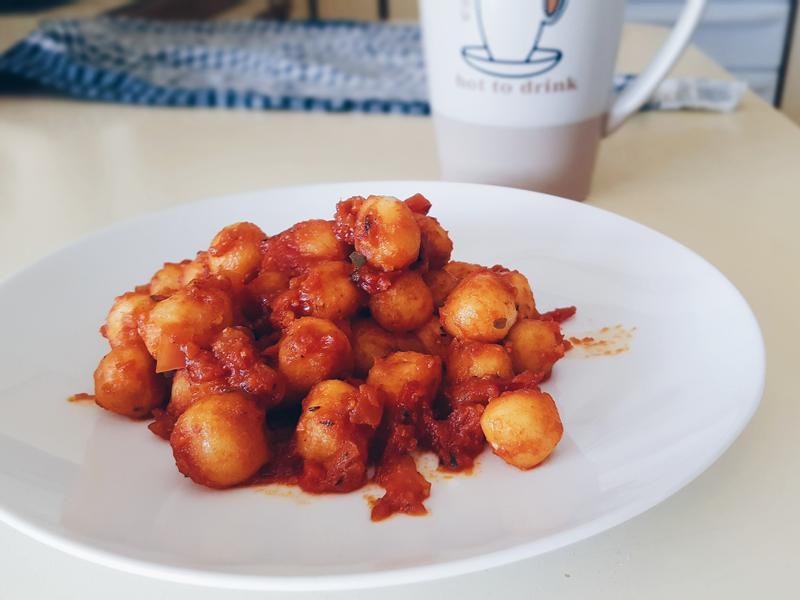 紅醬義大利麵疙瘩