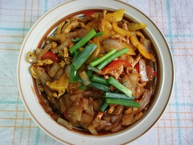 彩椒洋蔥黑胡椒豬柳【李錦記黑胡椒肉片醬】