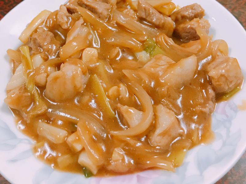 黑胡椒炒豬肉👍