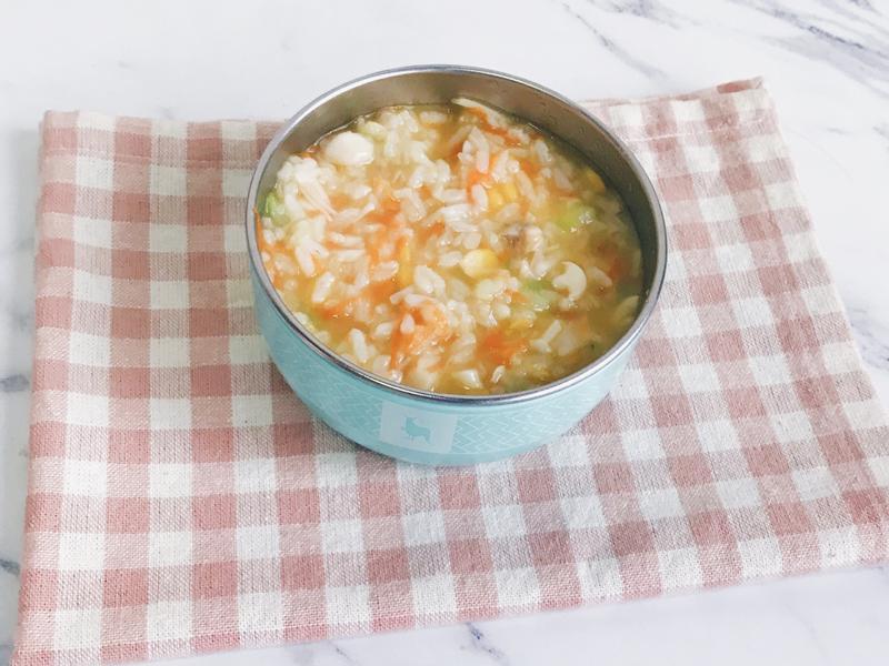 寶寶副食品 絲瓜蛤蠣玉米菇菇糙米粥