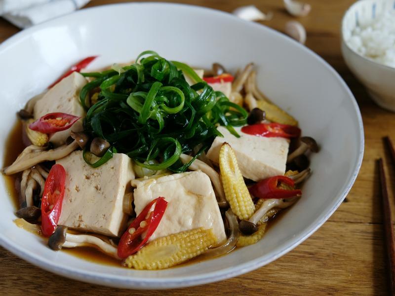 蠔油鮮蔬燒豆腐