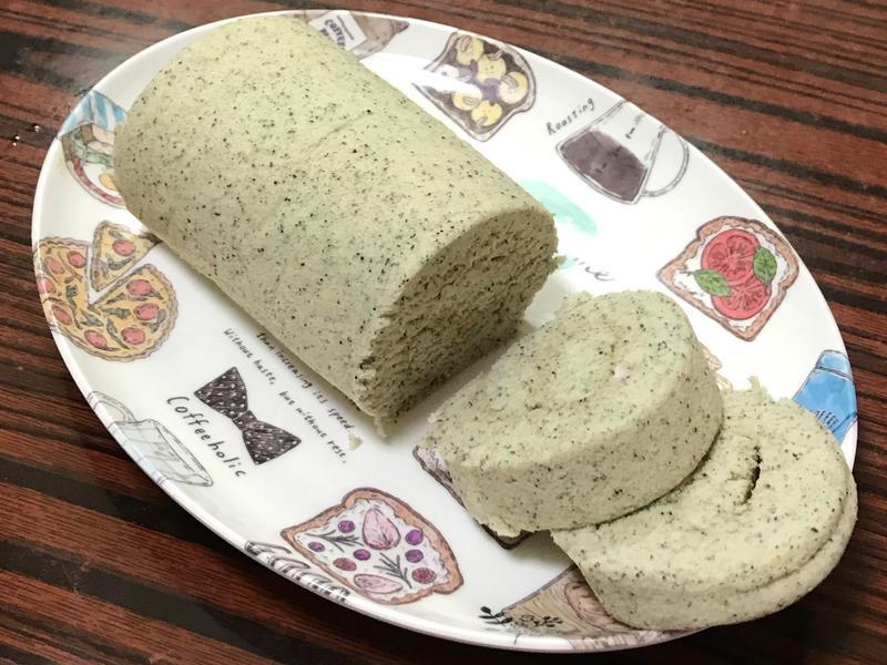 黑芝麻蛋糕捲 (低糖低油)