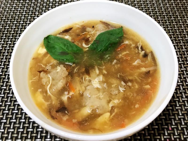 沙茶肉羹(焿)湯