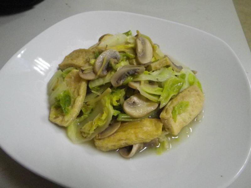 磨菇白菜板豆腐