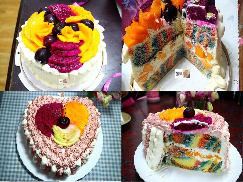 水果彩色生日蛋糕