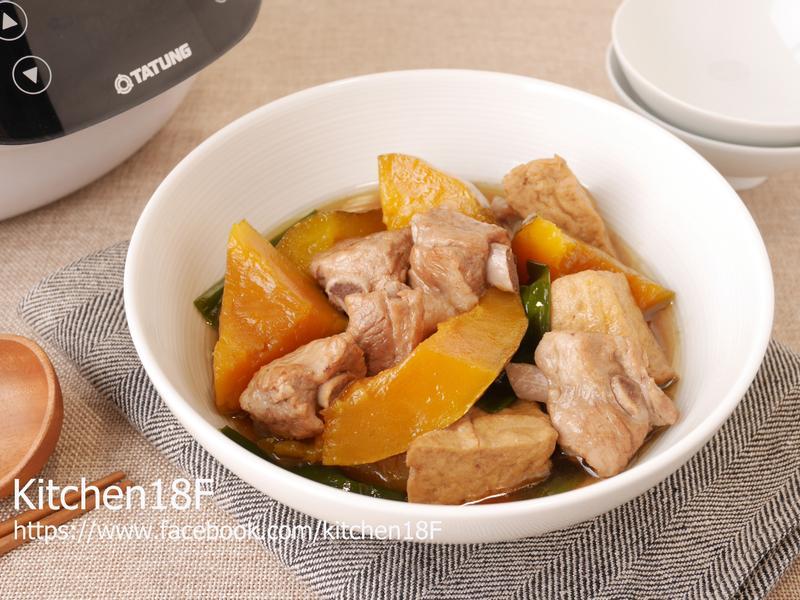 南瓜燉肉_電子鍋料理