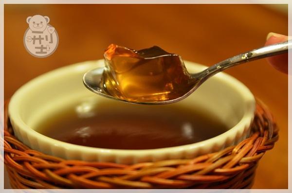 杏花蜜桃紅茶果凍