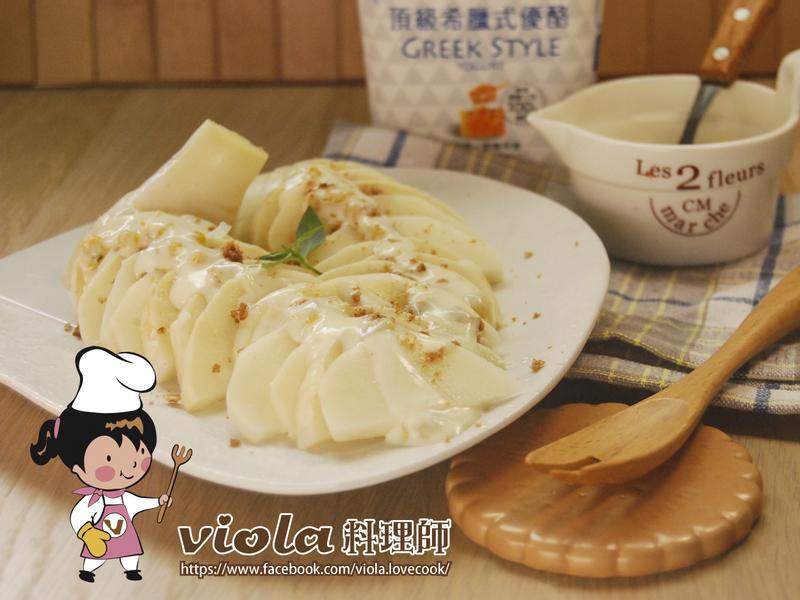 百香優酪涼拌綠竹筍