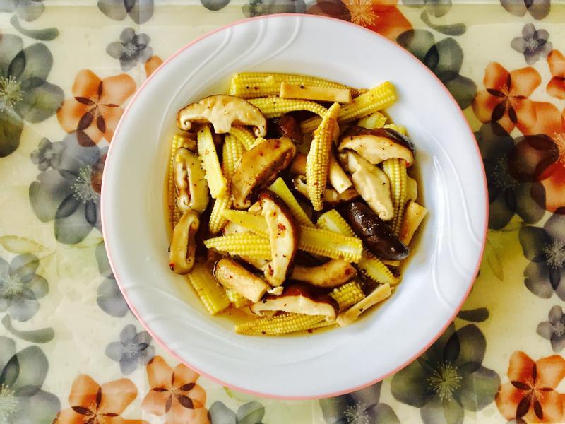 烤香菇玉米筍