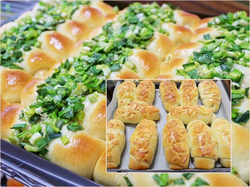 小紅做台式麵包~蔥啊胖胖+德式香腸捲捲