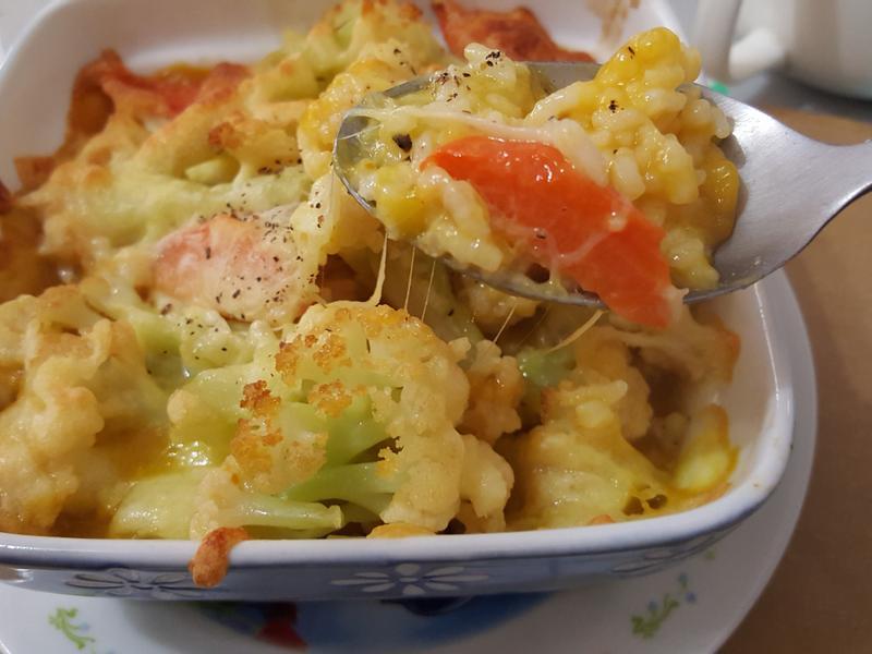 南瓜花椰菜焗飯
