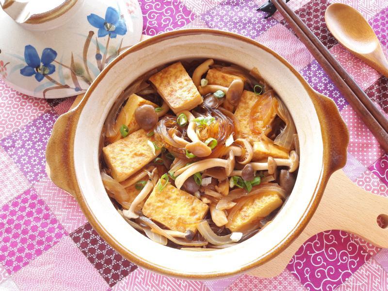 鮮菇香煎豆腐粉絲煲【好菇道親子食光】