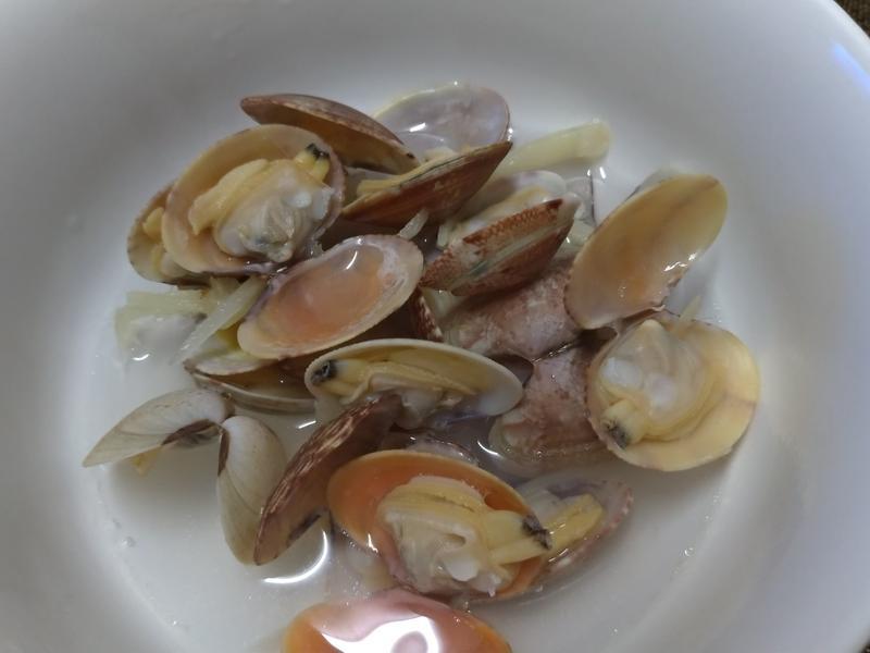 一人泡麵鍋系列~花蛤薑絲湯~