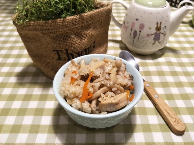 零失敗雞肉菇菇炊飯【好菇道親子食光】