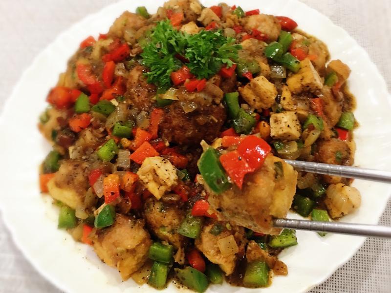 黑胡椒鑲豆腐