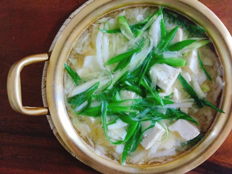 鮮蔬豆腐味噌湯一超簡單