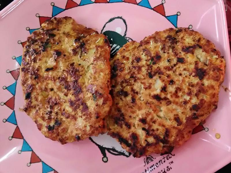 豆腐雞胸肉漢堡排💕低脂又高蛋白質喲🙌