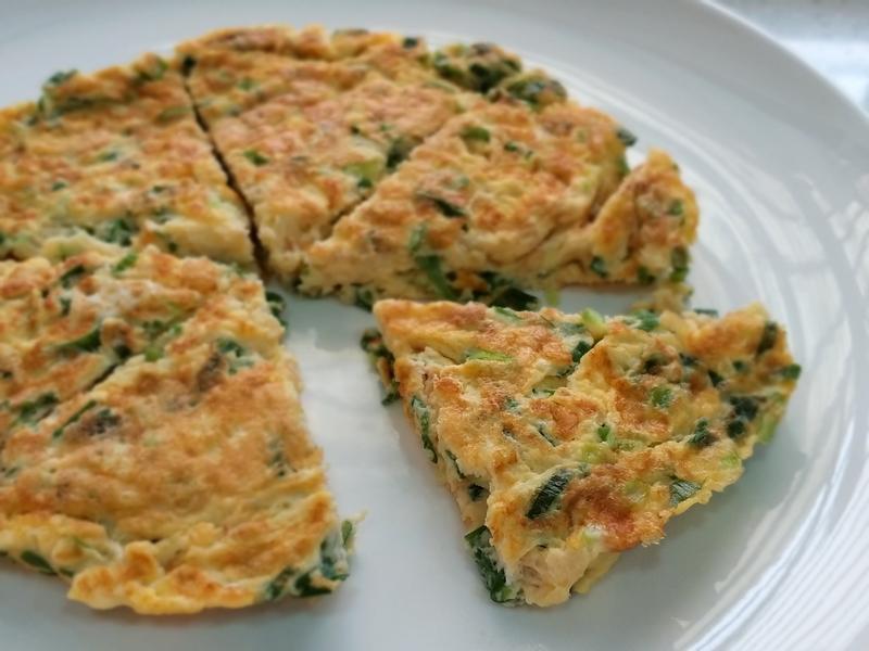 【香煎厚蔥蛋】古早味低醣便當清粥小菜