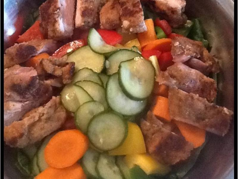 菠菜沙拉佐雞排