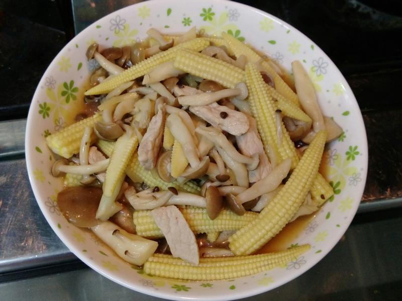 肉絲炒鮮菇