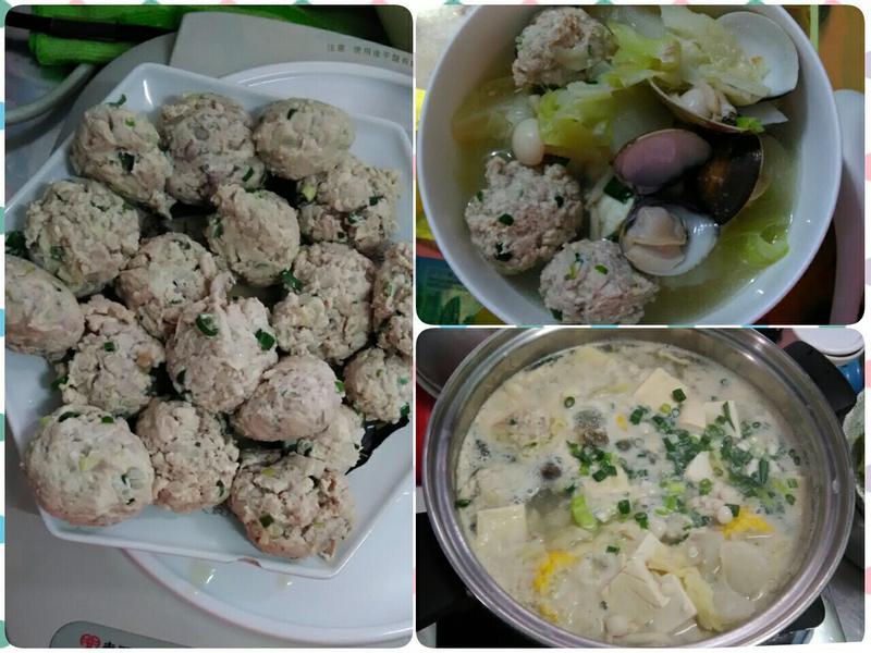 自製雞肉丸子之味噌大鍋菜湯