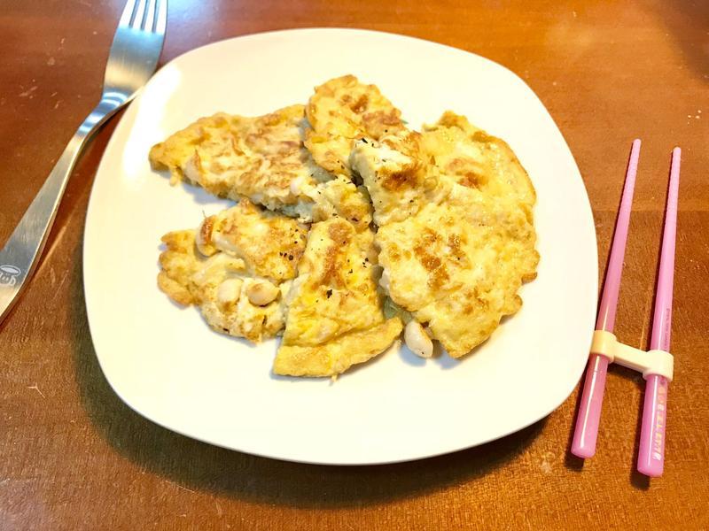 奶油雪白菇蛋煎【好菇道親子食光】