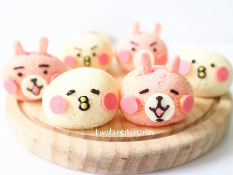兔兔跟P助蛋殼蛋糕