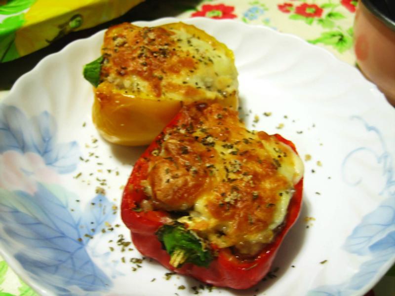 焗烤鑲肉甜椒