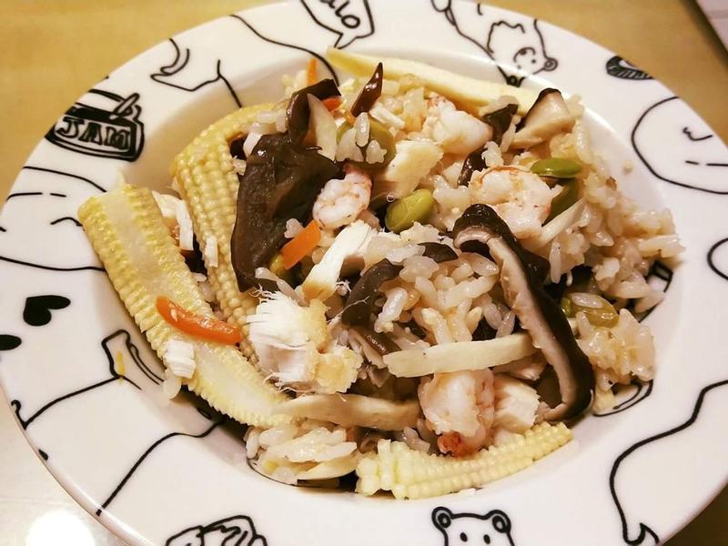 海鮮什蔬雜炊