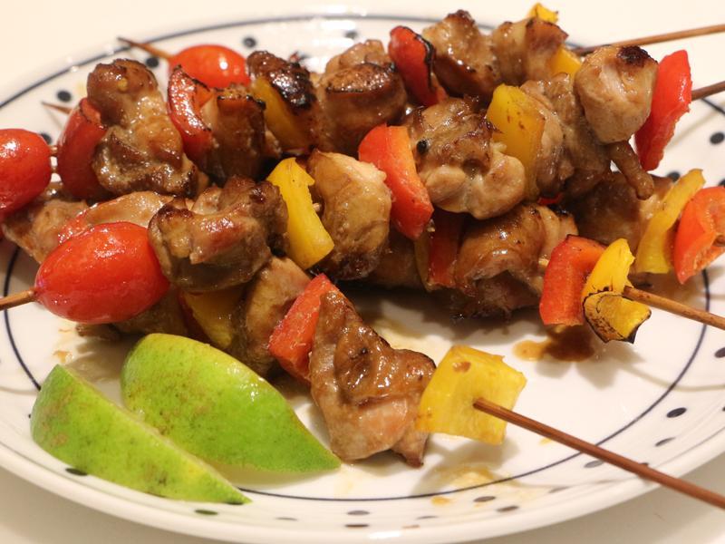 烤彩椒雞肉串