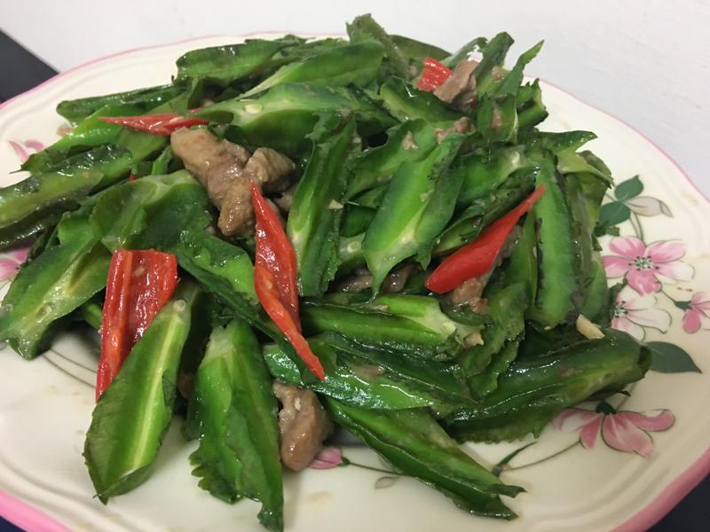 快炒肉絲翼豆~家常菜